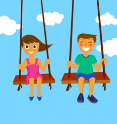 Couple kids vector