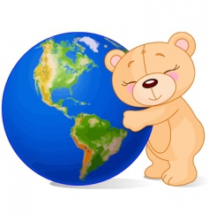 love earth bear vector image