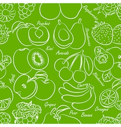 Fruits seamless vector