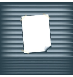 Blank poster on a roll up shutter vector
