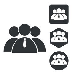 User group icon set monochrome vector