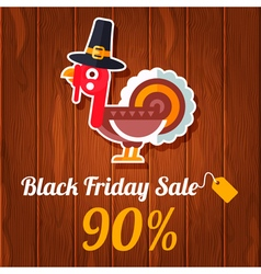 Thanksgiven black friday vector
