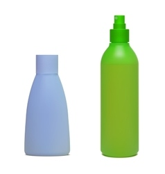 Set of cosmetic bottles vector