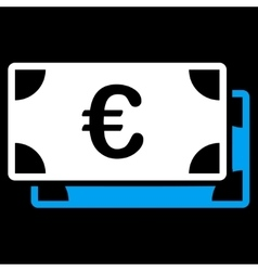 Euro bills icon vector