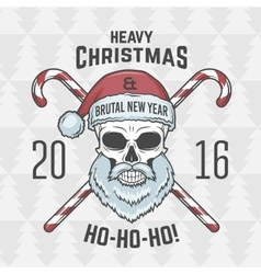 Bad santa claus biker with candies print design vector