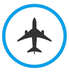 Jet plane rounded icon vector