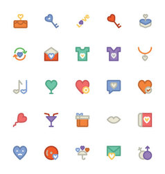 Love and romance colored icons 8 vector