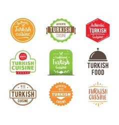 Turkish cuisine label vector
