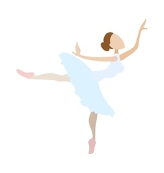 Ballerina girl dancing cartoon icon vector image