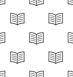 book seamless pattern vector image vector image