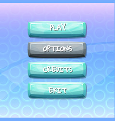 buttons with text for game vector image vector image