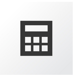 Calculator icon symbol premium quality isolated vector