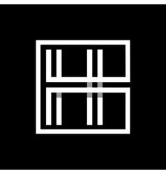 Capital letter h monogram logo emblem vector