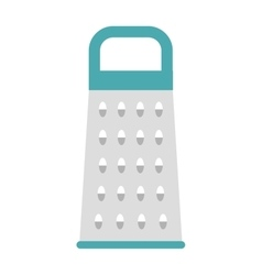 Cheese kitchen grater metal handle utensil vector