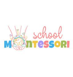 Concept of child development montessori vector