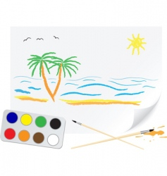 drawing summer vector image vector image