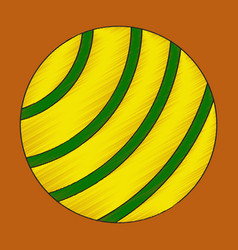 flat shading style icon fitball vector image