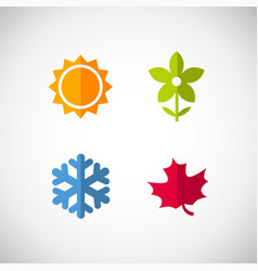 Four season icons vector
