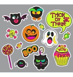 Halloween patch badges vector