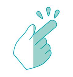 Hand click cursor symbol vector