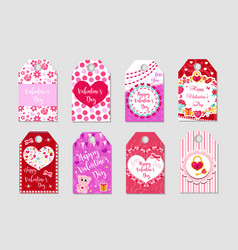 Happy valentine s day tags set labels collection vector