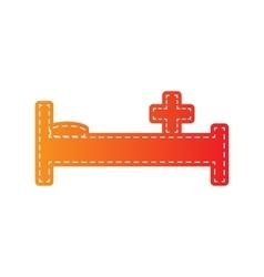 Hospital sign Orange applique vector image vector image