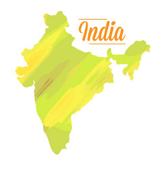 Isolated indian map vector