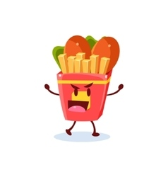 Junk Food Cartoon Character vector image