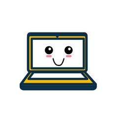 Laptop pc cartoon vector