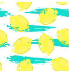lemon pattern1 vector image vector image