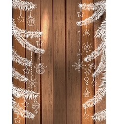 Natural Decoration for beautiful Holiday design vector image