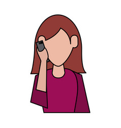 Person using cellphone icon image vector