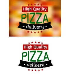 Piiza delivery banners vector image vector image