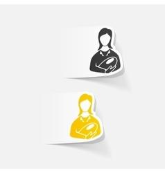 Realistic design element mom vector