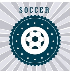 soccer league design vector image vector image