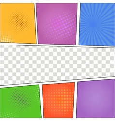 Speech Bubbles in Pop-Art Style background vector image
