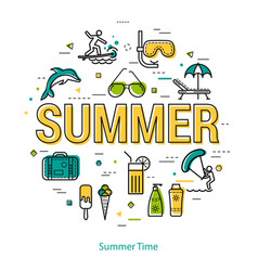 summertime - linear concept vector image