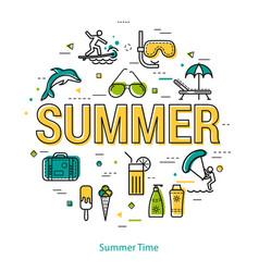 Summertime - linear concept vector