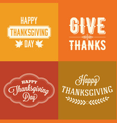 thanksgiving type font typography design vector image
