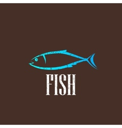 Vintage with a fish vector