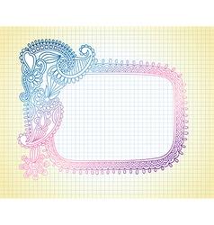 Sketchy Notebook Doodle Frame vector image