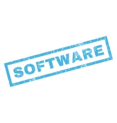 Software rubber stamp vector