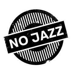 No jazz rubber stamp vector