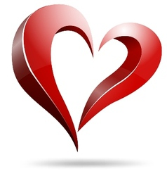 Logo heart shape design vector image