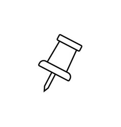 Push pin line icon office and school sign vector