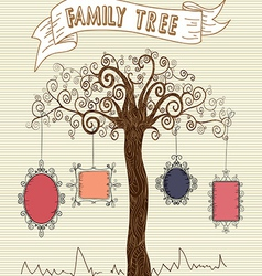 Colorful frames tree concept vector
