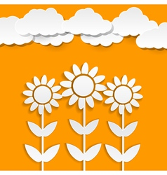 Paper sunflowers vector