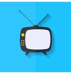 Retro tv icon Flat design vector image