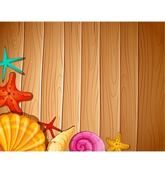 A wall with seashells vector