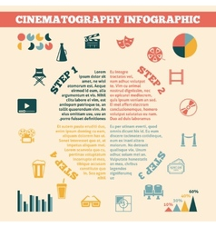 Cinema infographics print poster vector